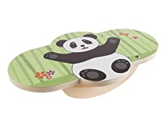 Wooden Balance Board with Panda Design