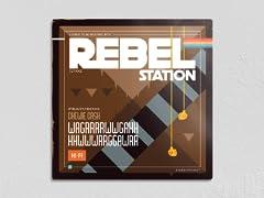"""Rebel Station 12"""" x 12"""" Metal Poster"""
