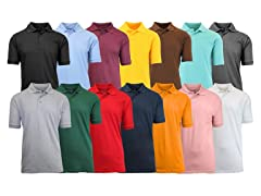 5-Pack Men's Assorted S/S Pique Polo