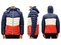 Men's Multi-Tone Bubble Puffer Jacket