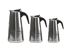 SS Stovetop Espresso Maker Pots, 3PC Set