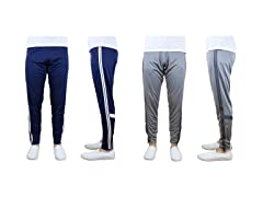 Mens Moisture Wicking Striped Jogger 2Pk