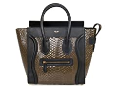 Celine Micro Python Leather Handbag