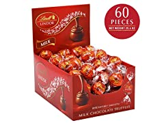Lindt LINDOR Milk Chocolate Truffles - 25.4 oz, 60ct