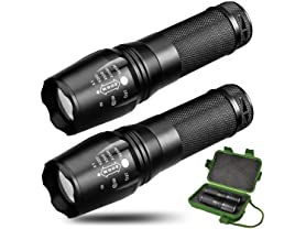 Elite 800 Lumen Tactical Flashlight 2-Pack