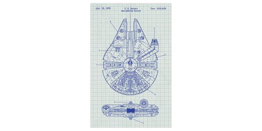 Star wars millennium falcon blueprint malvernweather Image collections