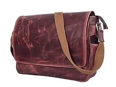 "Aaron Leather 16"" Laptop Messenger Bag"
