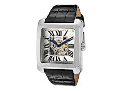 Men's See Thru Silver Dial / Black Band