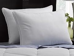 2 Pack Gusseted Microfiber Gel Pillow