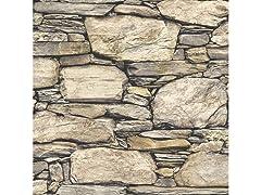 Hadrian Stone Wall Peel & Stick Wallpaper