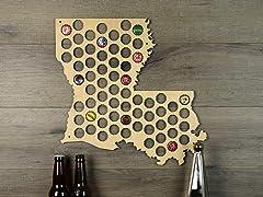 Beer Cap Map: Louisianna