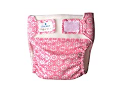 2-Piece Floral Tile Reusable Diaper Set