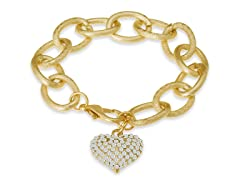 Swarovski Elements Floating Heart Bracelet