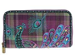 Boho Peacock Wallet, Purple