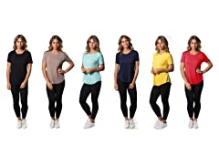 Women's Lightweight Stretch Tees 5-Pack