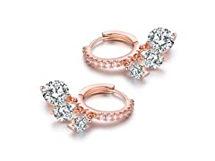 18K Rose Gold  Austrian Crystal Earrings