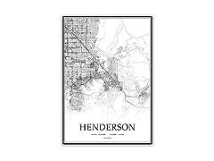 USA NV Henderson Black & White Poster