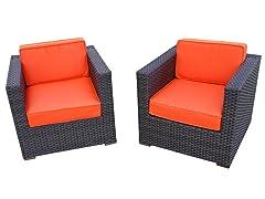 Bellagio Armchairs, Orange