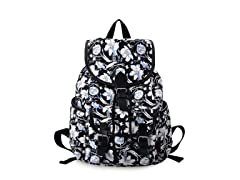 Women's Casual Flower Canvas Backpack