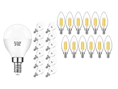 MAXvolador LED Light Bulbs (12-Pack)