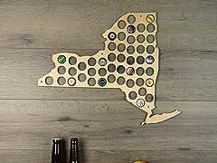 Beer Cap Map: New York