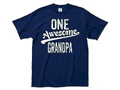 """Awesome Grandpa""100% Cotton T-Shirt"