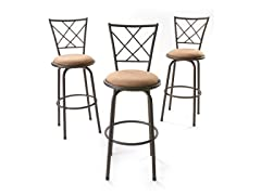 Adjustable Bar Stools – Set of 3