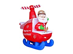 6ft Inflatable Santa Helicopter Display