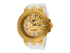 Challenger Watch, Gold / Gold / White