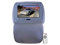 "Adj Headrest w/ 9"" LCD, DVD & Wireless Headphones"