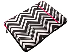 "15.4"" Neoprene Laptop Sleeve - Zebra with Pink"