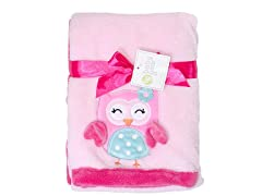 Pink Owl Blanket