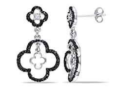 0.17cttw Black Diamond Earrings