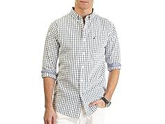 Nautica Plaid Poplin Woven Shirt XL