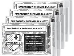 Camo Emergency Mylar Blanket (4-pack)