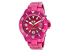 Pink Aluminum Watch