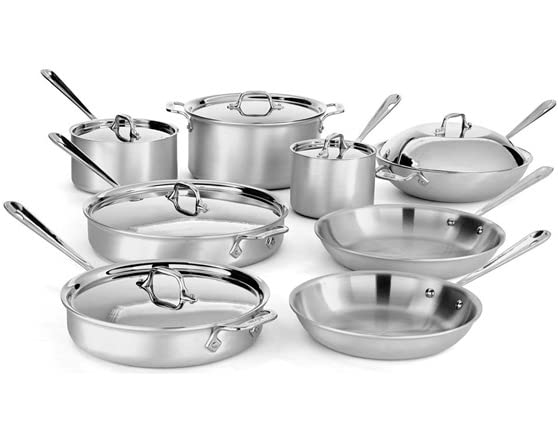 All Clad Mc2 14 Pc Stainlesscookware Set