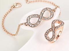Infinity Bracelet & Ring Set