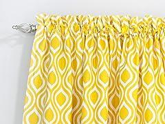Nichole Rod Pocket Curtain Panel - Corn - 3 Lengths