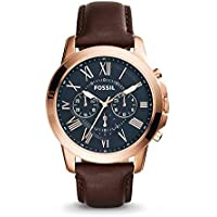 Deals on Fossil Mens Grant Chronograph FS5068 Brown Leather Watch 44mm