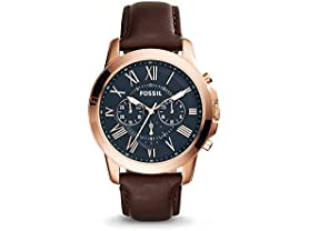 Men's Fossil Chronograph Grant Brown Watch