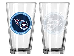 Tennessee Titans ROH Pint Glasses (2)