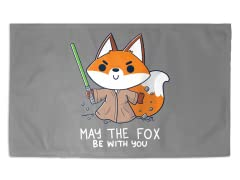 """May the Fox Be With You"" 3' x 2' Rug"