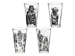 Star Wars Episode 4 16oz 4-Pc Glass Tumbler Set