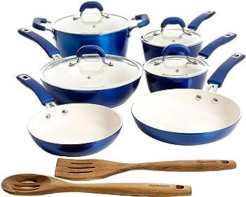 12-Piece Kenmore Arlington Nonstick Induction Cookware Set
