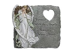 Angel Memorial Heart Cutout Stepping Stone