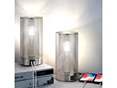 Folksmate 3 Way Touch Control Table Lamp-2pack