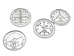 Godinger Airplane Coasters S/4