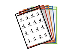 10 Reusable Dry Erase Pockets