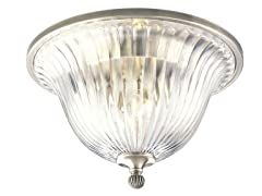 2-Light Close-To-Ceiling, Classic Silver